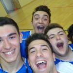 Selfie della squadra Blu con Giacomo Corradi.