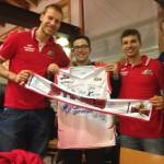 "Jacub ""Kuba"" Wojciechowski, Alessandro Grande e Matteo Cassinerio degli Stings."